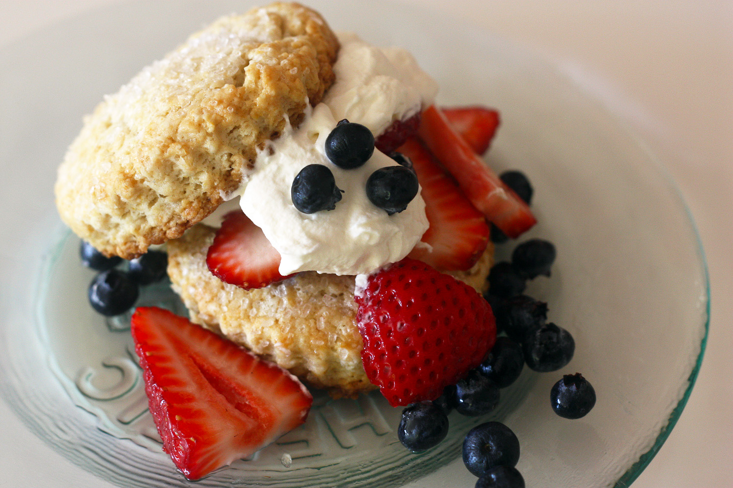 Recipe Red White And Blue Strawberry Shortcakes