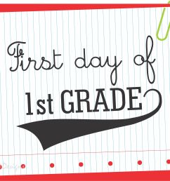 Download these FREE First Day of School Printable Signs Now!   Catch My  Party [ 2452 x 3000 Pixel ]