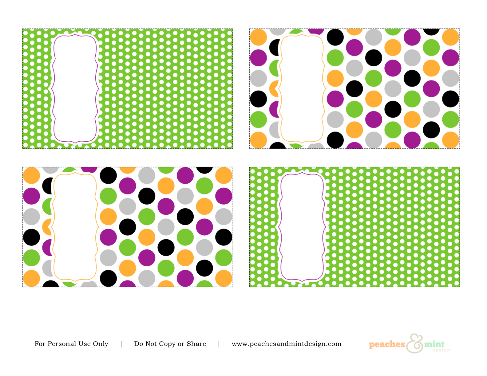 Free Halloween Printables From Peaches Amp Mint Design
