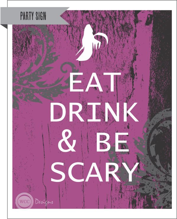 FREE Halloween Party Printables from WCC Designs Catch