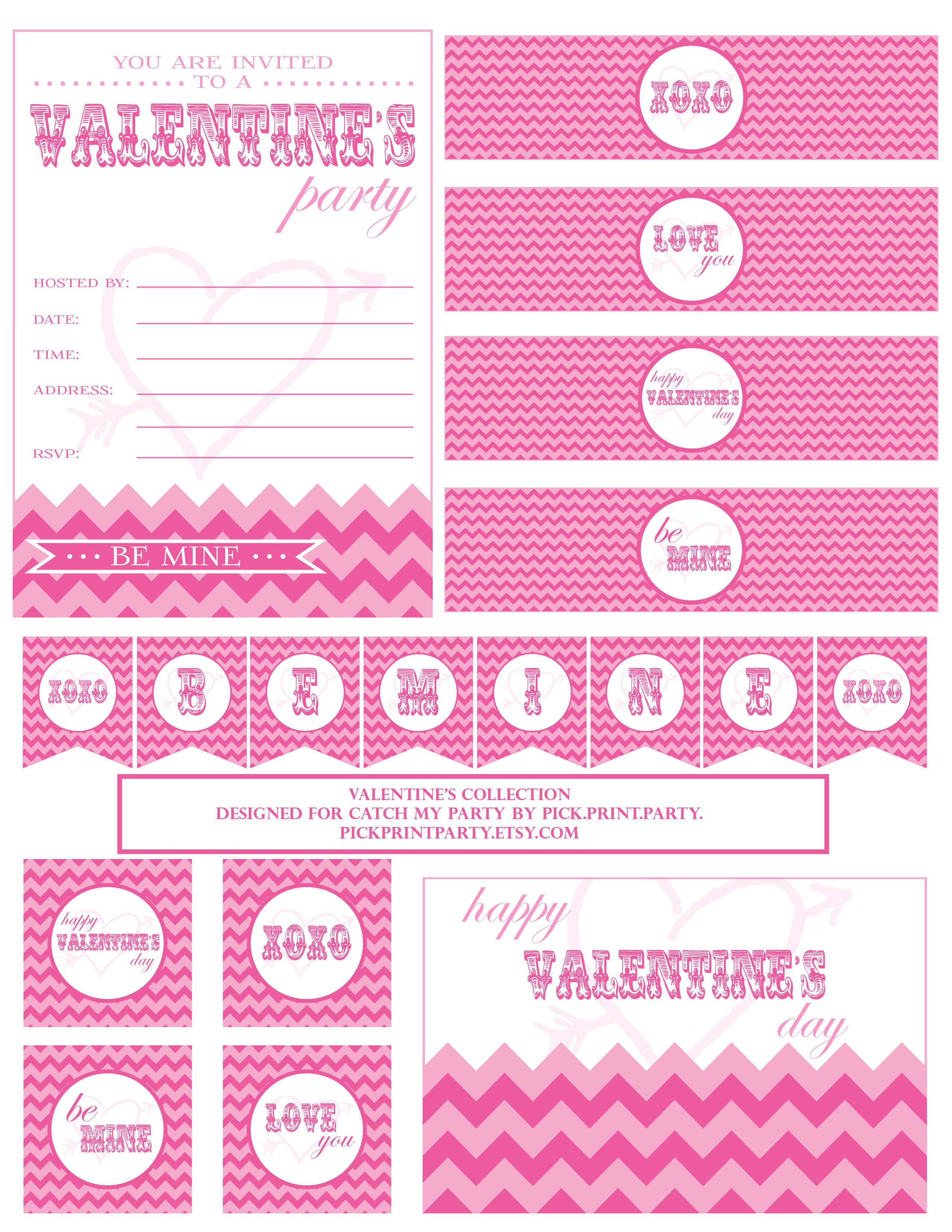 Free Valentine S Day Party Printables From Pickintrty