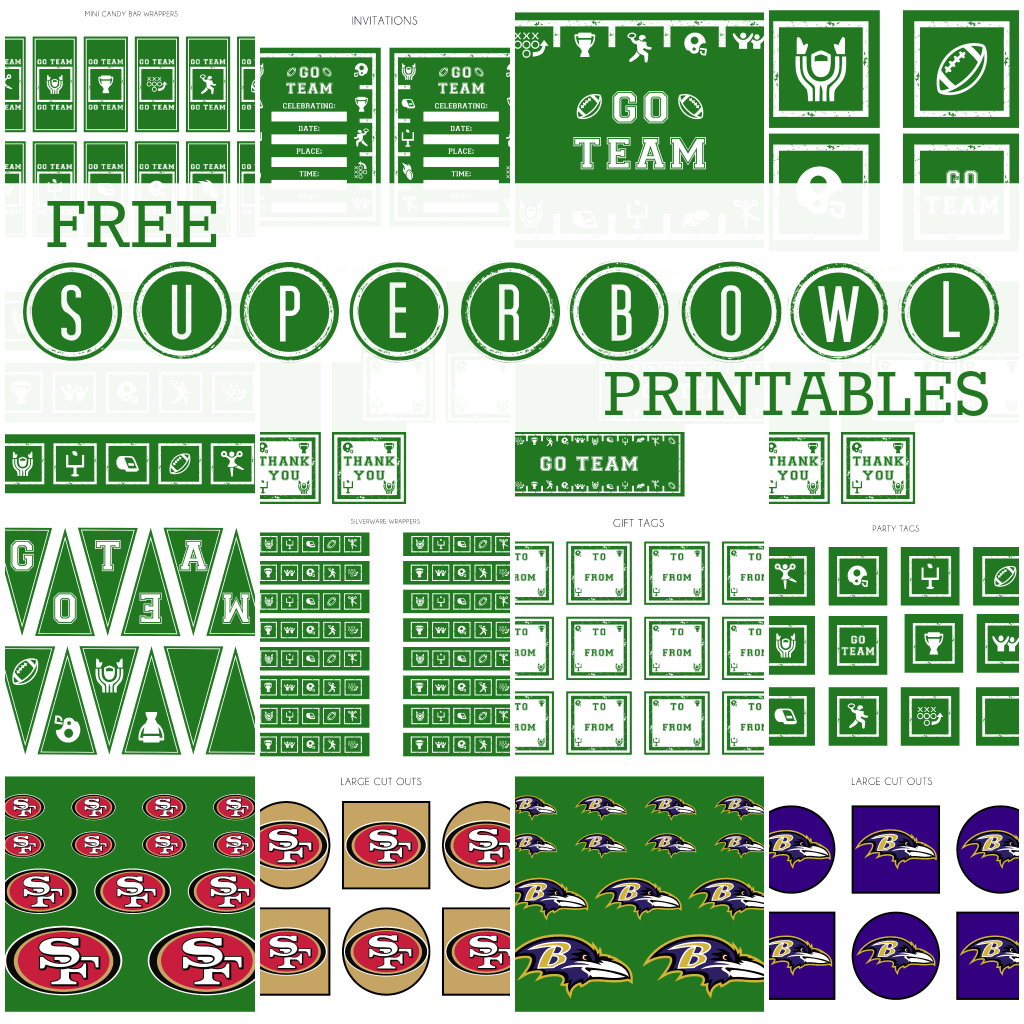Free Super Bowl Party Party Printables