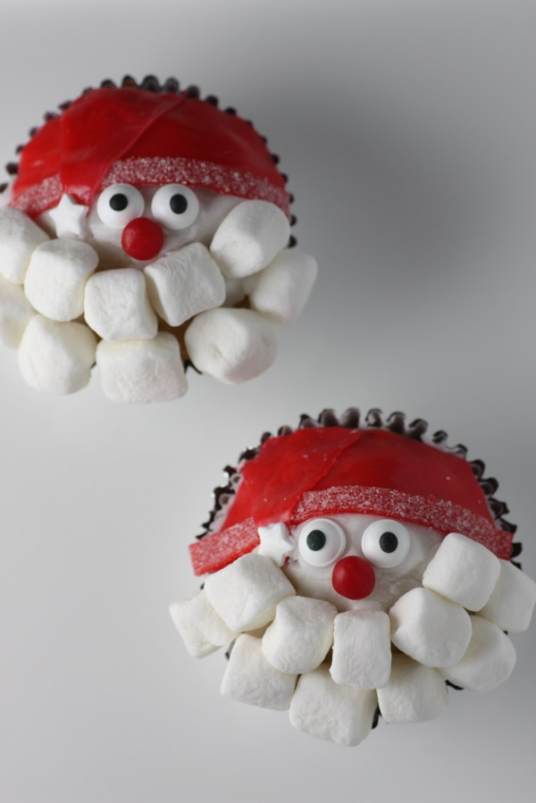 Santa Claus Cupcakes Diy Catch Party