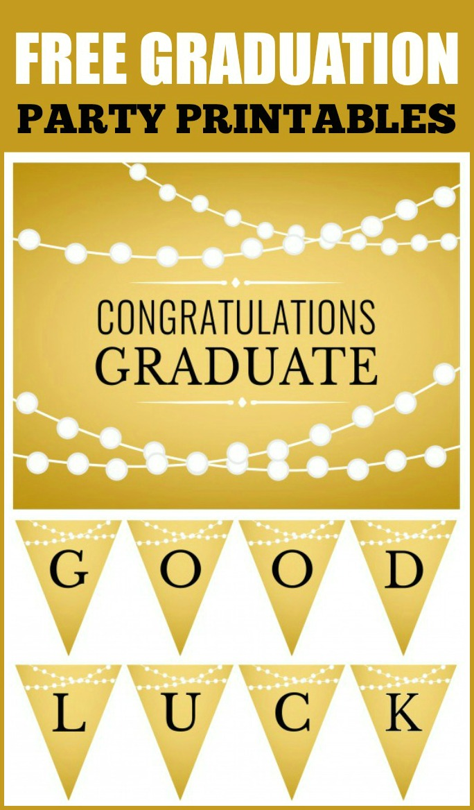 Free Gold Graduation Printables  Catch My Party