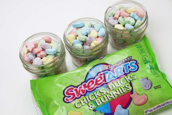 Sweetarts Mason Jar Candy Easter Baskets Diy Catch Party