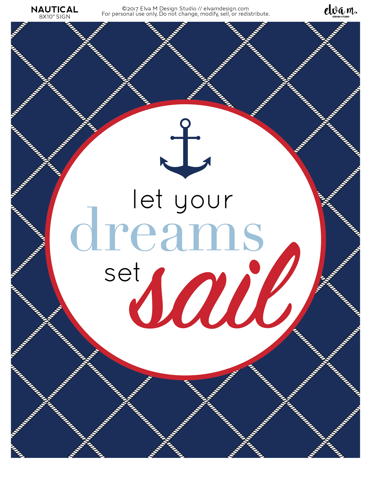 Free Nautical Birthday And Baby Shower Party Printables