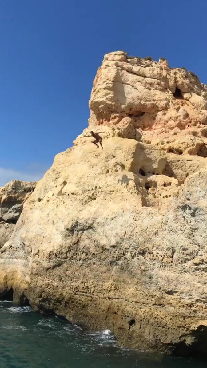 Adam Friden Cliff Jumping