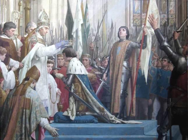 Jeanne d'Arc à Reims avec le Dauphin