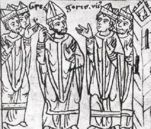 Saint Grégoire VII et Odon, Maïeul, Odilon et Hugues.
