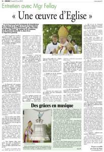 Entretien de Mgr Fellay à Présent (27 juin 2015)