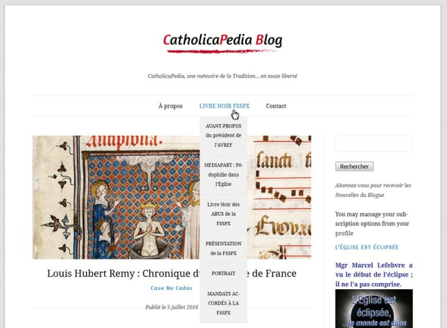 Le CatholicaPedia Blog