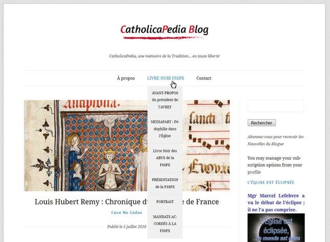 Le CatholicaPedia Blog