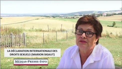 La déclaration internationale des droits sexuels (Marion Sigaut)