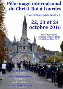 FSSPX, Lourdes 2016