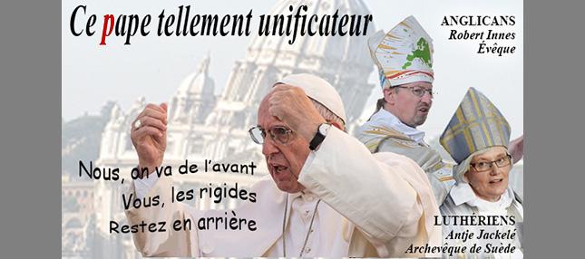 François approuve la participation active à des rites liturgiques <i>non catholiques</i>, <i>hérétiques</i>, <i>schismatiques</i> et même <i>invalides</i>…