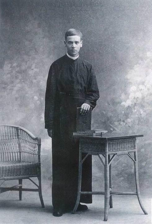 Joaquín Sáenz y Arriaga, alors jeune séminariste
