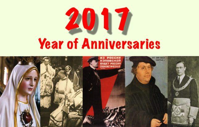 2017 année d'anniversaires