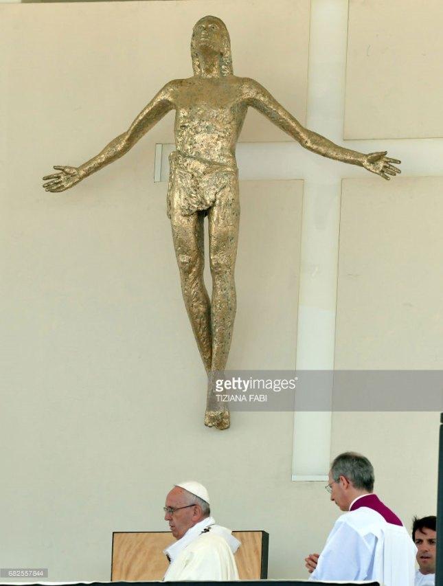 Le Christ va faire un saut périlleux...