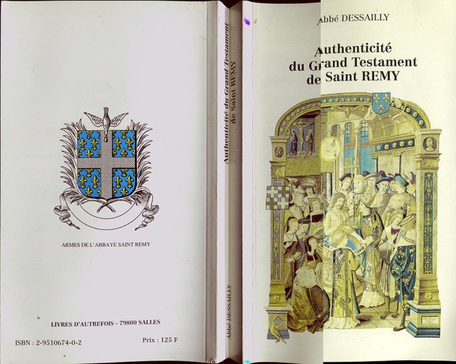 Authenticité du Grand Testament de Saint-Remy par l'abbé Dessailly