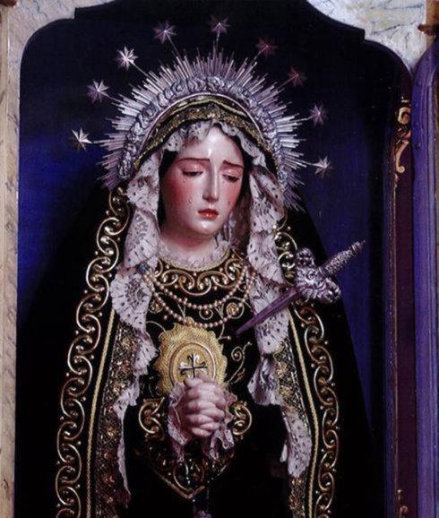 La Bse Vierge Marie Mère des douleurs.