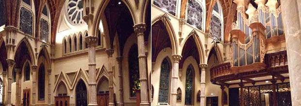 Dand la cathédrale de Chicago l'art satanique des marbres