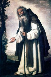 Saint Antoine le Grand par Francisco de Zurbarán.