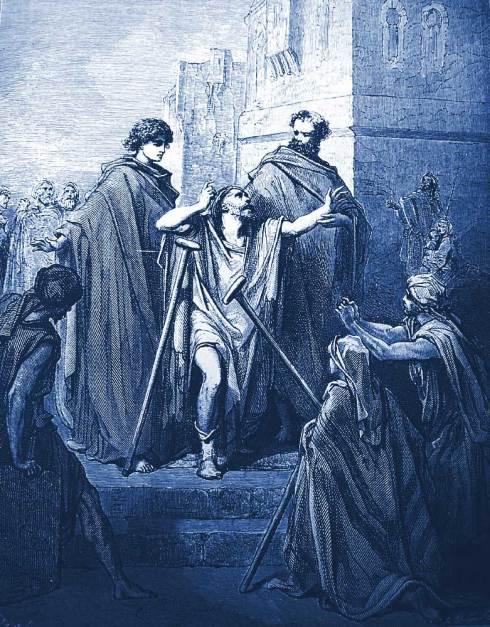 Saint Pierre et Saint Jean guérissant un boiteux.