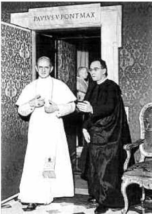 Paul VI et Mgr. Pasquale Macchi.