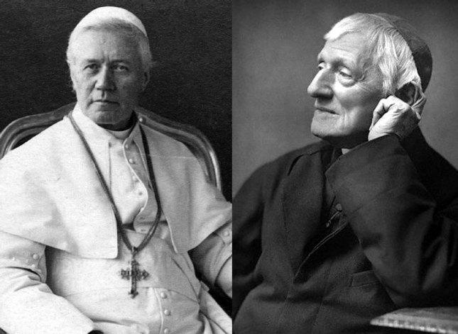 Le Pape Saint Pie X et le Cardinal John Henry Newman