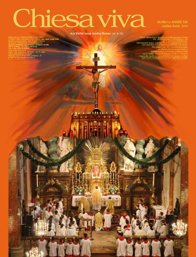 Chiesa Viva numéro 528 (Juillet-Août 2019)