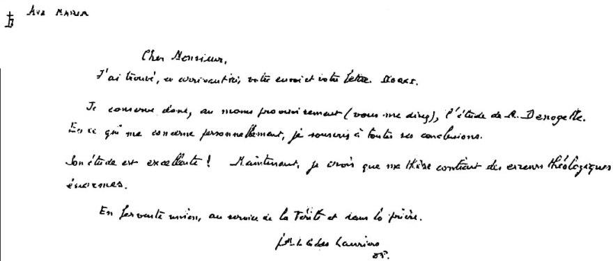 La Rétractation de Mgr Guérard