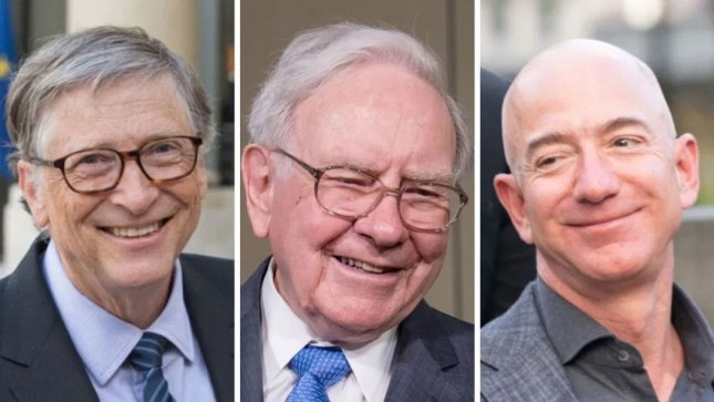 Bill Gates, Warren Buffett et Jeff Bezos