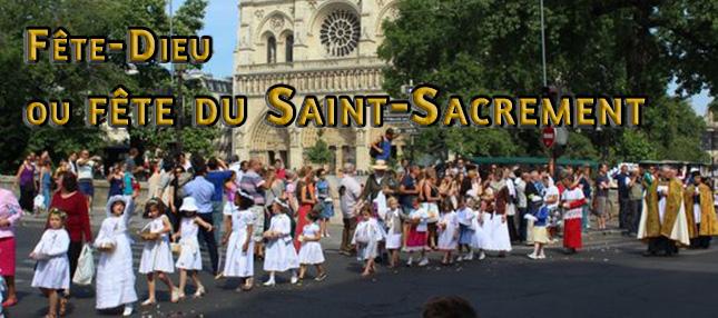 Une première Fête-Dieu sans procession en France