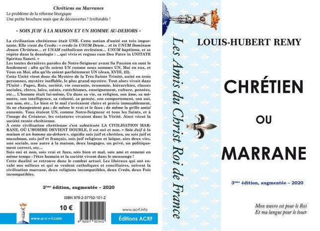 Chrétiens ou Marranes, 3è édition 2020