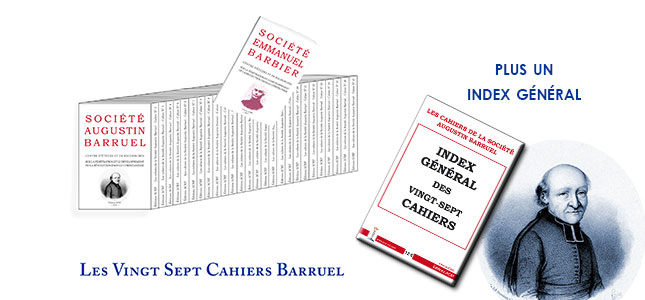 Les Cahiers de la Société Augustin Barruel