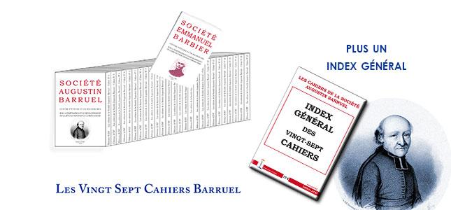 Les Quatre premiers <i>Cahiers de la Société Augustin Barruel</i> sont parus