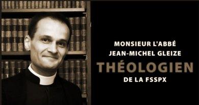 Monsieur l'Abbé Jean-Michel Gleize (F$$PX)
