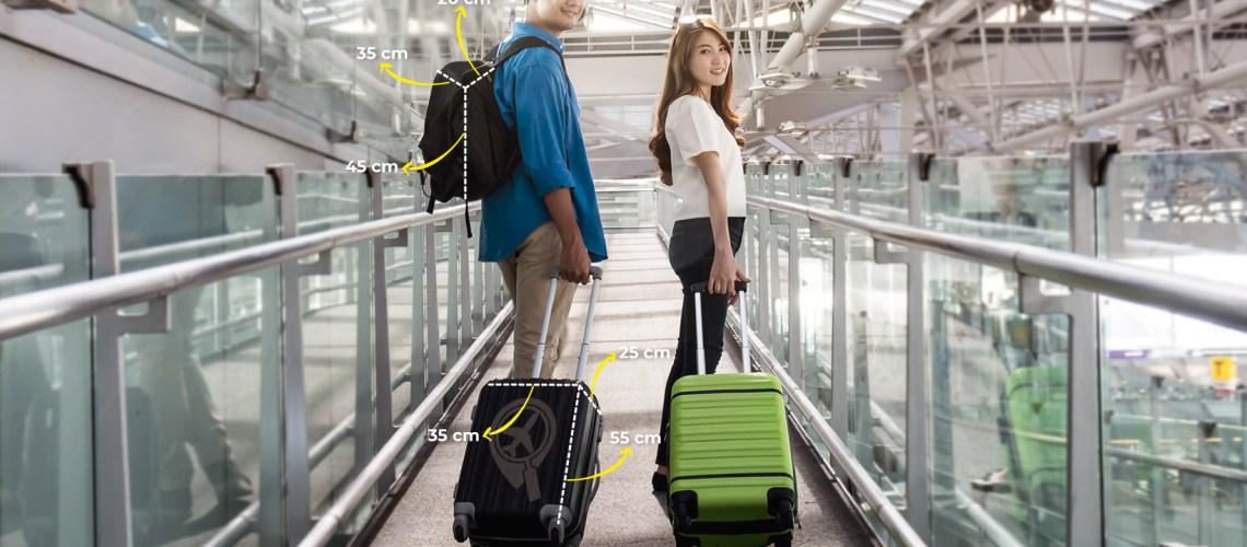 bagagem de mao tamanho