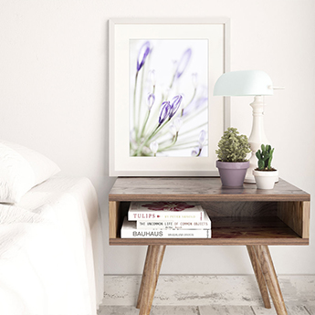 Lily of the Nile No. 2 - Oversized ultra violet flower wall art by Cattie Coyle Photography