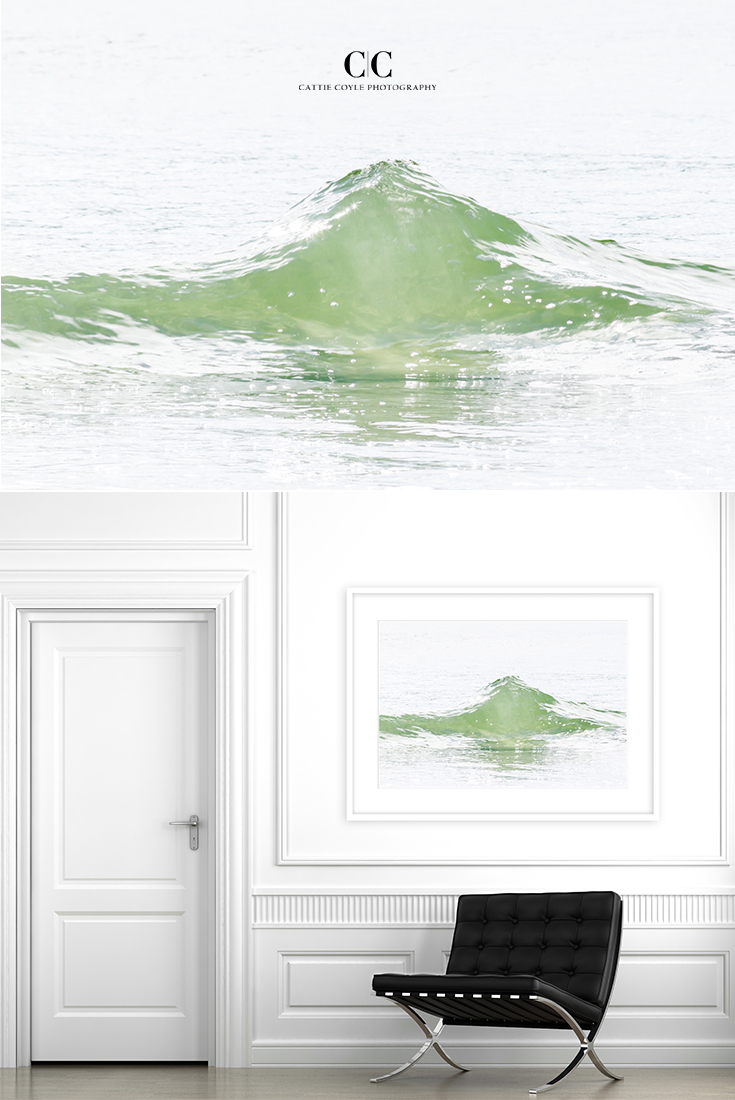 You might want to incorporate green in your home decor beyond St. Patrick's Day. Studies have shown that looking at the color green sparks creativity and increases innovative thinking. And helps your body heal faster. Not bad! #stpatricksday #green #largeart #coastalart