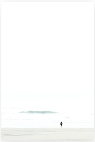 Surfer No. 1 - Minimalist Surfer Photography Art Print by Cattie Coyle Photography