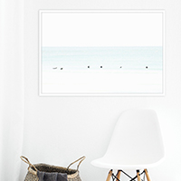 Waiting No 7 - Oversized surfing photography print by Cattie Coyle
