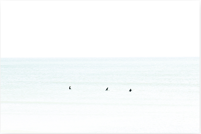 Waiting No 8 - Oversized Minimalist Framed Surf Art by Cattie Coyle Photography
