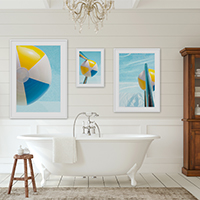 Swimming Pool No. 2 with 1 and 3 - Spa bathroom art by Cattie Coyle Photography