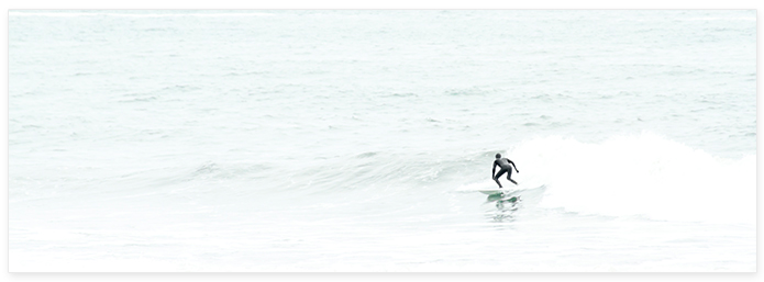 Surfing No 6 Panoramic - Surf photography by Cattie Coyle