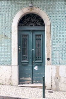 Door and azulejo tiles by Cattie Coyle Photography
