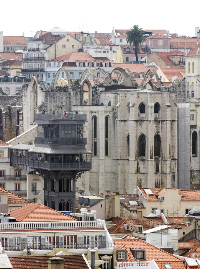 Lisbon Portugal Elevador de Santa Justa by Cattie Coyle Photography