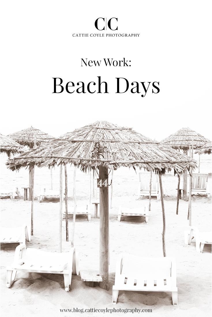 Beach Days - Black and White fine art photography prints by Cattie Coyle. #coastaldecor #interiordesign #wallart #coastalart #cattiecoylephotography