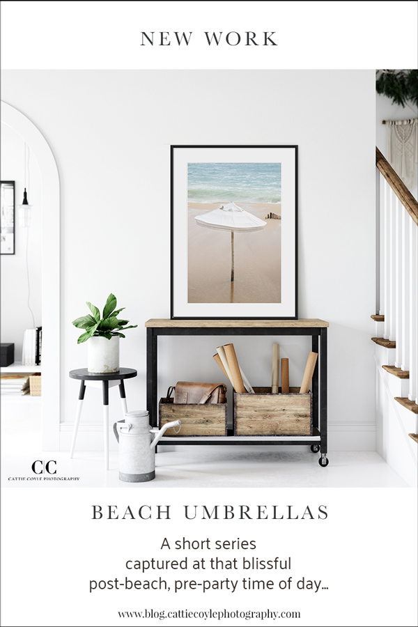 Beach Umbrellas fine art prints - Coastal decorating ideas by Cattie Coyle Photography
