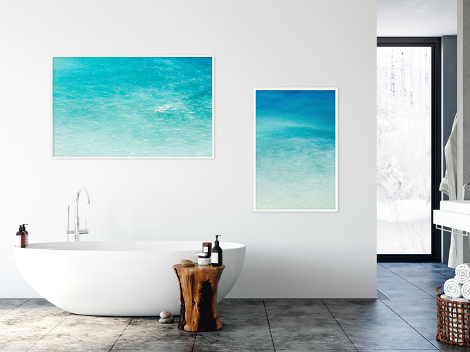 Magoito No 10 and 9 - Turquoise blue water aerial view fine art prints by Cattie Coyle Photography